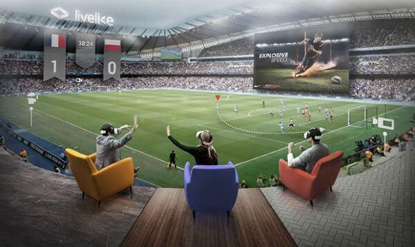 Перегляд матчів у віртуальному просторі