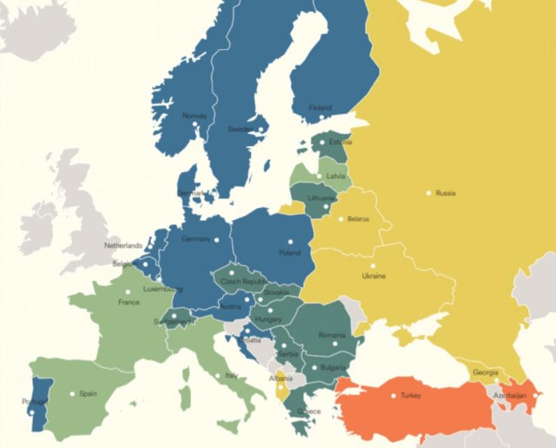 Рівень володіння анг мови в європі