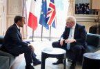 Президент Франції Еммануель Макрон і британський прем'єр Борис Джонсон