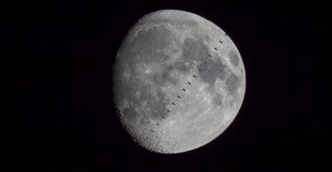 Астрофотограф зняв проходження МКС перед диском Місяця