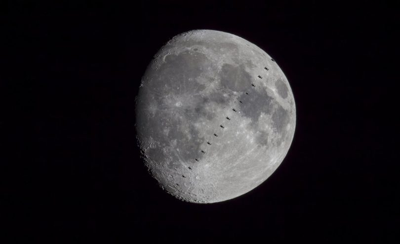 Місяць і МКС