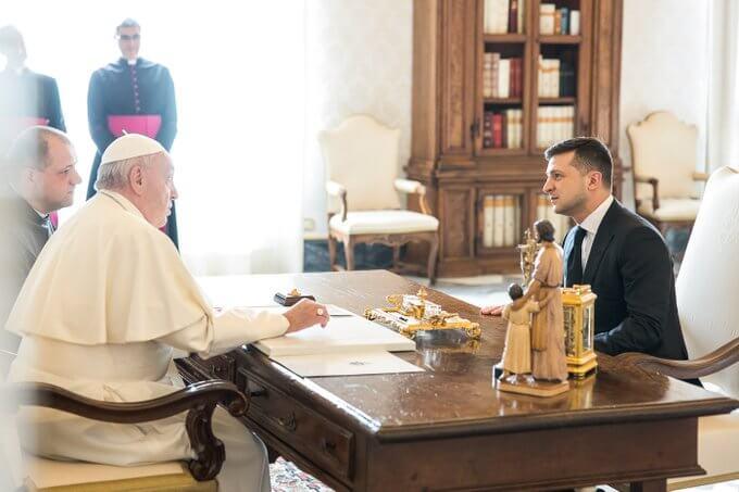 Папа Римський Франциск і Володимир Зеленський