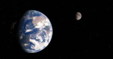 Земля і місяць
