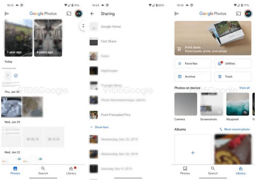 Google Фото новий дизайн