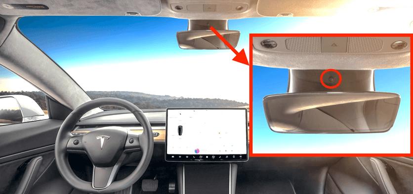 Камера в Tesla 3