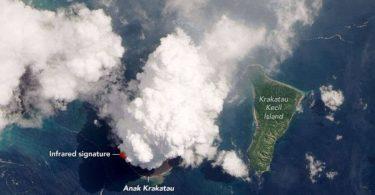 Виверження вулкана Анак Кракатау показали з космосу