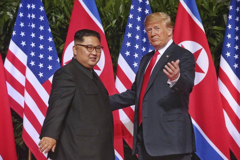 Кім Чен Ин та Дональд Трамп
