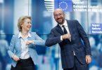 Урсула фон дер Ляйєн і Шарль Мішель на саміті ЄС в Брюсселі