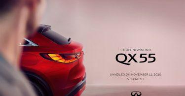 Infiniti показала нове зображення купе-кроссовера QX55