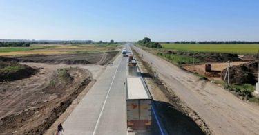 Будівництво бетонної дороги в Полтавській області