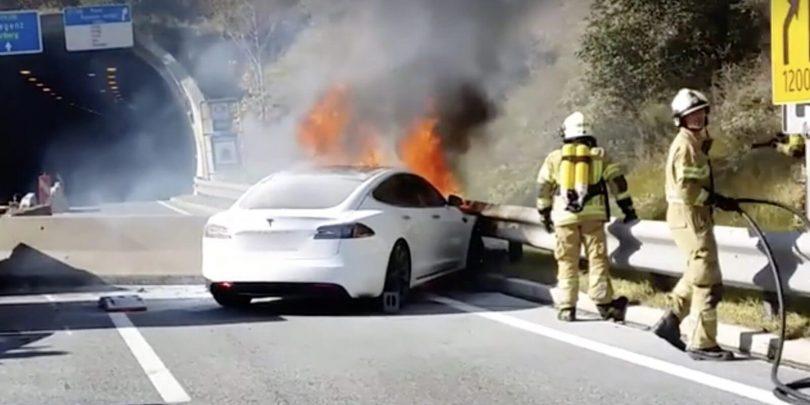 Пожежа Tesla