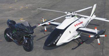 Kawasaki показала гоночний надшвидкісний вертоліт з двигуном від мотоцикла