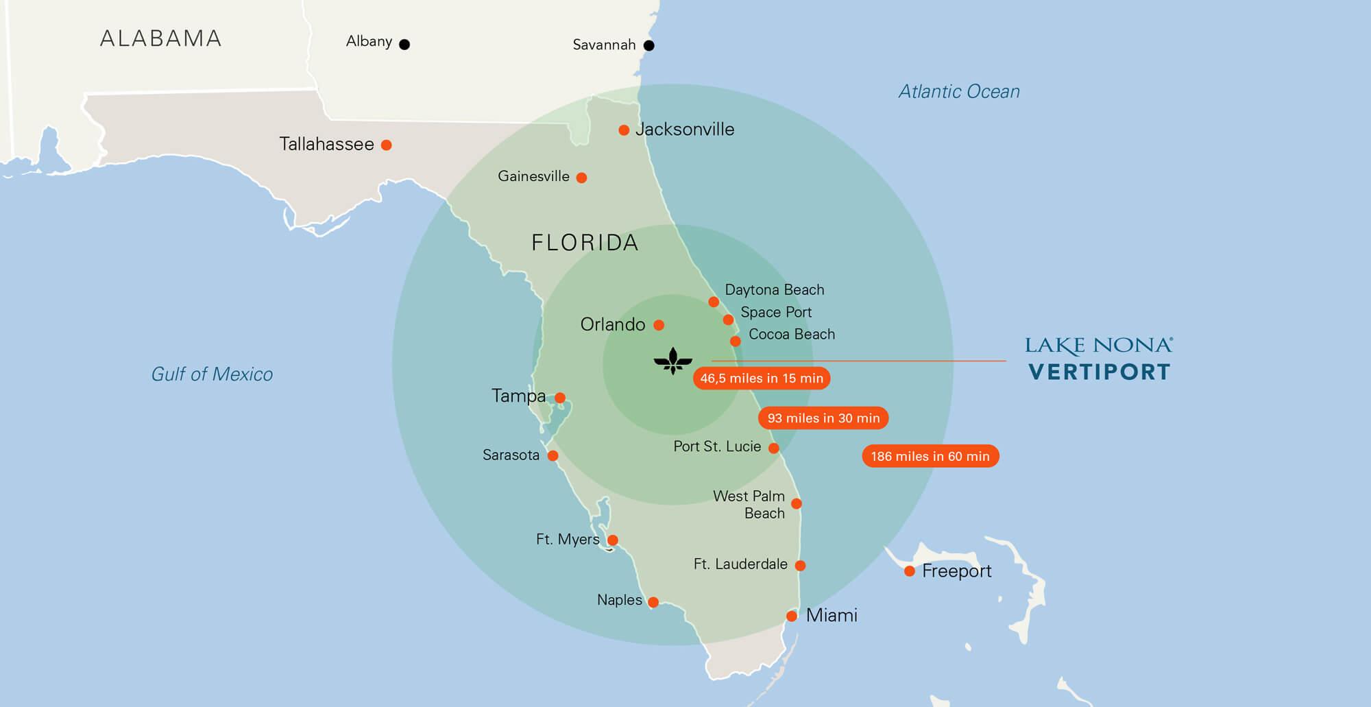 Карта літаючого таксі