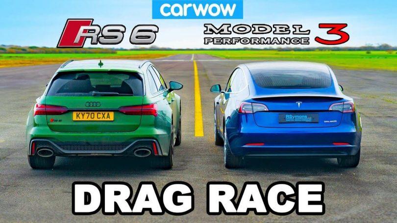 Audi RS6 і Tesla Model 3 Performance