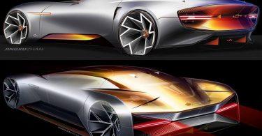 General Motors показав ескізи футуристичного купе Chevrolet
