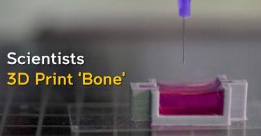Дослідники знайшли спосіб друкувати кістки прямо в тілі [ВІДЕО]