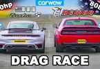 Dodge Challenger SRT Demon і Porsche 911 Turbo S