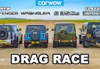 Jeep Wrangler Rubicon, Mercedes-Benz G 350 d, Land Rover Defender