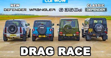 Дрег-гонка: Jeep Wrangler і Mercedes-Benz G-Class проти Land Rover Defender