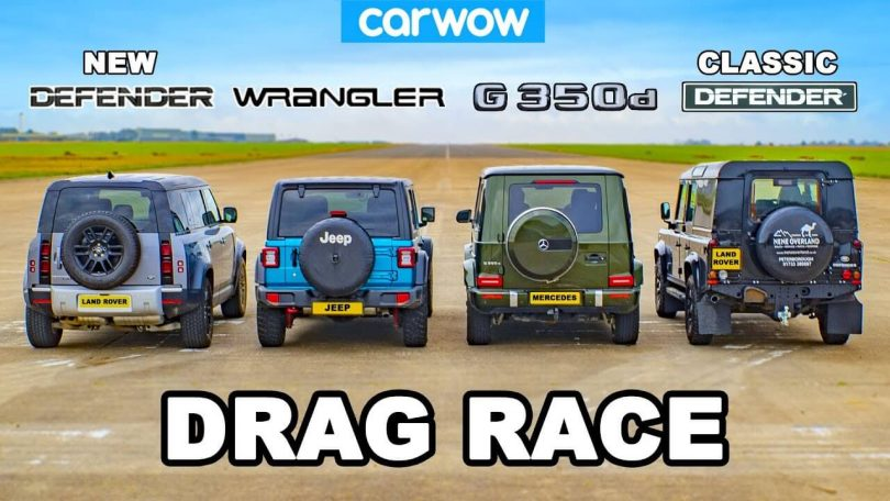 Jeep Wrangler Rubicon, Mercedes-Benz G 350 d, Land Rover Defender
