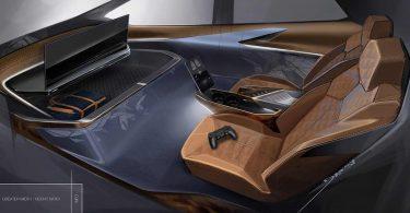 Подивіться на інтер'єр автомобіля з вбудованою ігровою приставкою