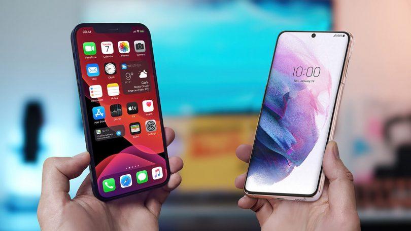 galaxy s21 iphone 12