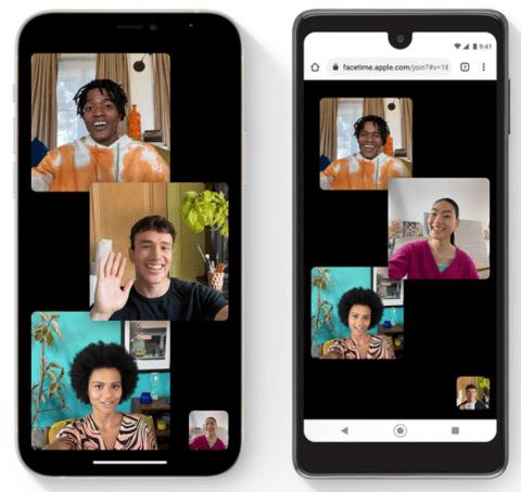 Зображення з сайту Apple: iPhone (ліворуч) і Android-смартфон (праворуч)