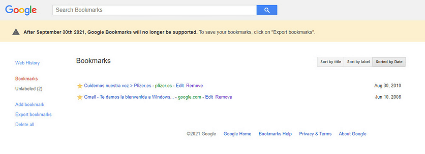 """Закладки Google"""