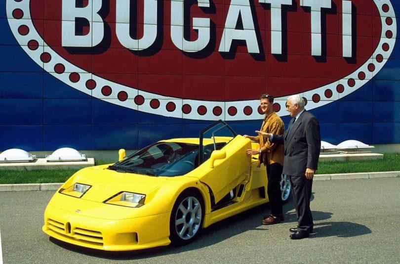 Міхаель Шумахер і колишній власник Bugatti Романо Артіолі